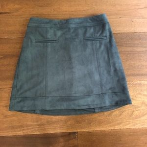 Grey Abercrombie and Fitch Suede Skirt!!